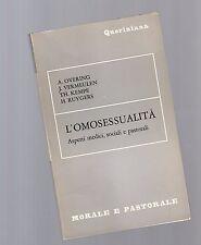 l' omosessualita' aspetti medici,sociali e pastorali -