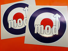 Raf roundels Scooter Moto Mod Stickers Calcomanías 2 Off 100mm
