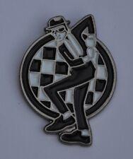 Two Tone Rudeboy Ska Man Dancing Enamel  Pin Badge