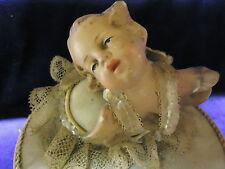 Antique  Angel Figurine on a Turning Pedestal