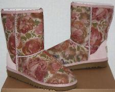 NIB Girls UGG Australia Classic Flower Boots Size 2