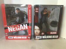 "NIB McFarlane AMC The Walking Dead Negan Merciless & Glen 10"" Deluxe Figure Lot"
