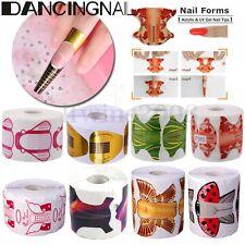 500 Sticker Forme Acrylique Ongle Extension Construction Chablon Gel UV Nail Art