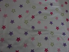 Beige pink purple green stars thermal blackout material remnant crafts piece