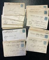 Lot of 80 Canada Postal Stationary Covers  Berlin Ontario (and other) Postmarks-