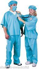 FEMMES HOMMES ADULTE DOCTEUR Scrubs INFIRMIÈRE UNIFORME Job costume déguisement