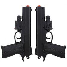 2 PACK SPRING AIRSOFT PISTOL LED LASER SIGHT FLASHLIGHT HAND GUN w/ 6mm BB BBs