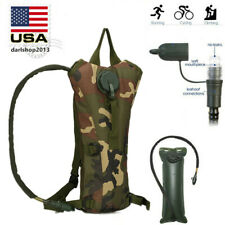 3L Tactical Outdoor Hydration Backpack Water Bladder Bag Hiking Climbing Riding