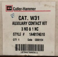 EATON CUTLER HAMMER W31 Advantage W200 W201 3NO 1NC Auxiliary Contact 1A48174G10