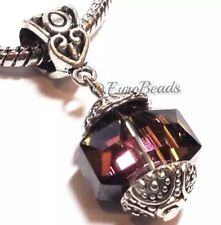 *PURPLE CRYSTAL*_Large European Bead_For Silver Chain Charm Bracelet_Q16