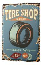 Tin Sign Garage Tire Shop