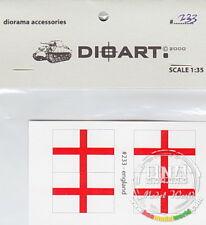 DioArt 1/35 Modern England, Flags (8 Double-sided)