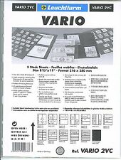 New Vario Stock Sheets 2VC  2 Vertical Pockets for #10 Covers Clear Pkg. 5