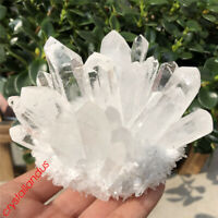 1pc Clear Cluster Quartz Crystal mineral Specimen Point reiki Healing
