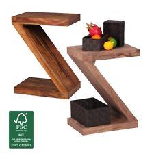 "Massivholz Beistelltisch ""Z"" Cube Design Couchtisch Massiv Holz Modern Regal Neu"