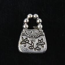 40pcs Tibetan Silver Handbag Charms For Jewelry Making 16x11mm