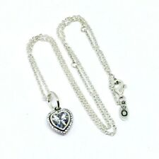 Genuine Authentic Pandora Sparkling Heart Necklace 45cm S925 ALE