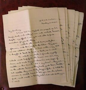 1940's WWII 7 page love letter - mentioning the Blitz