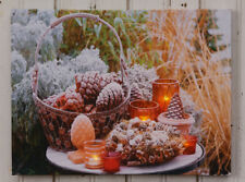 Led new Winter Pinecones in a Basket Print