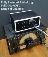 RESTORED R1155 WW2 Lancaster RAF Valve Radio Receiver & PSU RESTORATION SERVICE