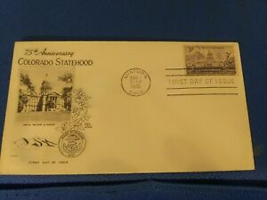 Scott #1001 3 Cent Stamp Honoring Colorado's Statehood First Day Issue