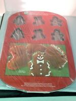 Wilton 12 Cavity Christmas Whoopie Pan Stocking Gingerbread Holiday Bakeware New