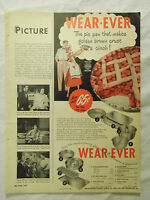 1949 Magazine Advertisement Page Wear Ever Aluminum Baking Pans Pie Cake Pan Ad