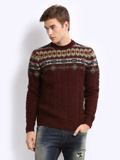 New Men Levi's Thick Cable Knit Sweater XLARGE Maroon