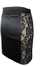 Arden B Lace Side Panel Stretch Skirt, Size L, NWT