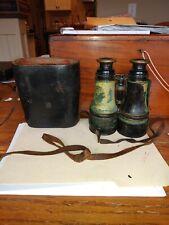 Union Civil War binoculars w/ card indicating to who they belonged to