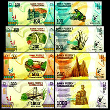 Madagascar 100, 200, 500, 1000 Ariary 2017 Banknote World Paper Money Set of 4