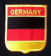 GERMANY GERMAN DEUTSCHLAND NATIONAL COUNTRY FLAG BADGE IRON SEW ON PATCH CRES