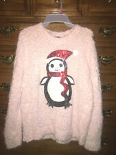 NoBo Juniors Black Red Plaid L//S Shirt Sweater Sparkle Christmas Reindeer Small