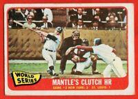 1965 Topps #134 Mickey Mantle VG-VGEX CREASE World Series New York Yankees HOF