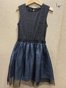 7-8 Years Girls Black Glitter Dress From Asda