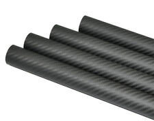 OD25mm* ID21mm*1000mm 3K Carbon Fiber Tube  Roll Matt Surface (US Warehouse 1PC)