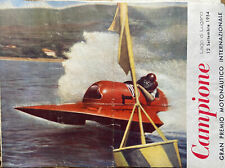 Power Boat Race Programme 1954 Lago di Lugano International