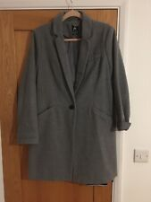 Primark Grey Smart Coat Jacket Size 16