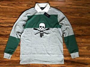 Polo Ralph Lauren Rugby Shirt Long Sleeve Skull Men's Medium, Large, XXL