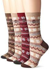 Timberland Vintage Style Cotton Crew Socks 4-pk Assorted, Tan/Port/Bark, 1-size