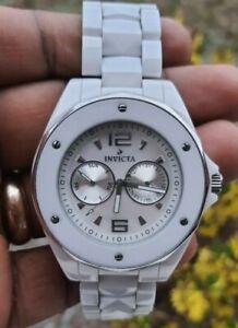 Invicta Ceramic Collection Ocean Elite MOP Dial Bracelet Links Men's Watch #0293