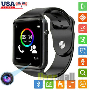 Smart Watch w/Cam for iPhone IOS Android Samsung LG Bluetooth Waterproof Tracker