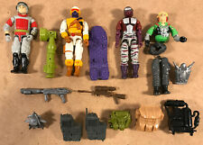 G.I. Joe ARAH Lot of 4 Figures + 7 Accessories, 1980s/90s - Some with Play Wear