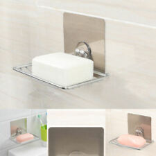Non Rust Suction Stainless Steel Bathroom Shower Soap Holder Dish Rack zxc