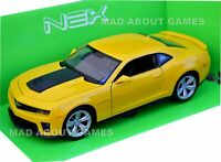 CHEVROLET CAMARO ZL1 1:24 Scale Diecast Model Toy Car Miniature Yellow