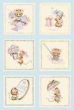 Fabric Elizabeth Studios Anyone Can Sew Panels Ami Morehead Mouse