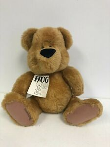 """*Signed* 1983 Ted Menten HUG BEAR 17"""" Jointed Plush Bear w/Tag."""