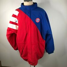 Vintage Adidas Mens L Puffer Jacket Colorblock FC Bayern Munchen EV Red Blue NWT