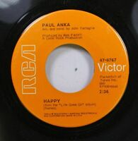 Rock 45 Paul Anka - Happy / Can'T Get You Out Of My Mind On Rca Victor