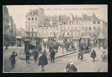 France LORIENT La Place Bisson Trams #71&53 busy c1900s u/b PPC